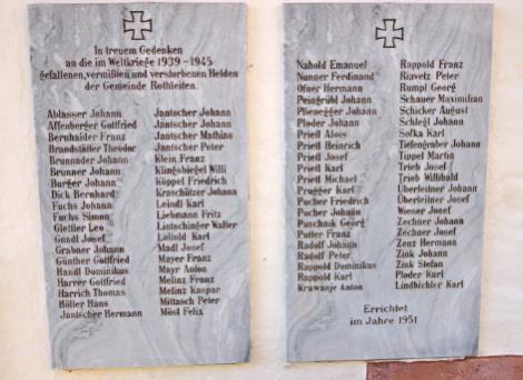Memorial of Adriach's casualties in World War II