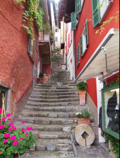 Varenna staircase art
