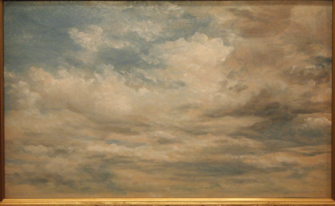 "Alfred Sisley's ""Clouds"" from Felton collectoin"