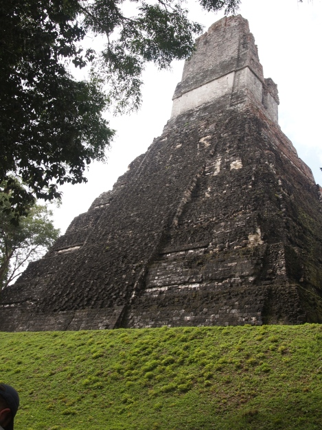 Rear view of Jaguar temple from jungle trail