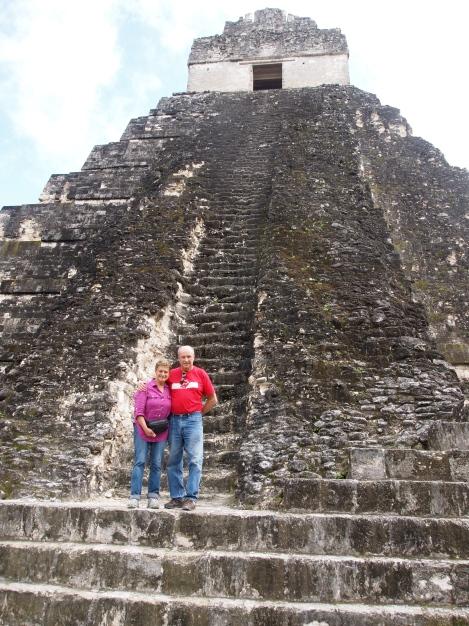 Steps of Jaguar temple - hazardous climb