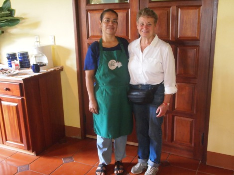 Lucy became best friends with chef Grace who prepared us wonderful meals with fresh vegetables, fruits, juices, and Belizean specialties.