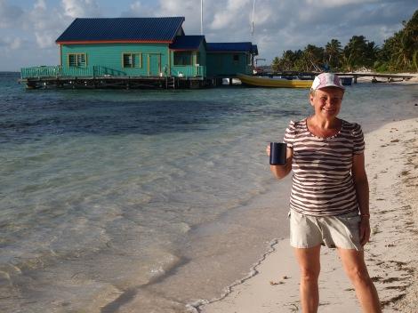 Morning cuppa for morning beach walk