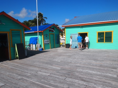 Dive shop and restaurant at Tranquility Bay