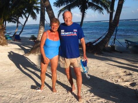 Apres snorkeling off Ambergris Caye
