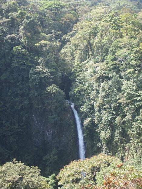 Distant view of Mirador Falls