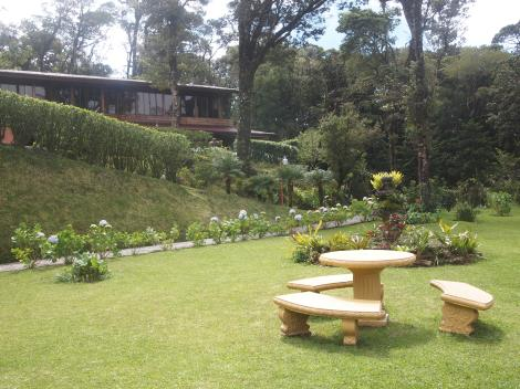 Our jungle 'cabin' was high on the far right corner.  Nice place with full windows looking over the cloud forest.