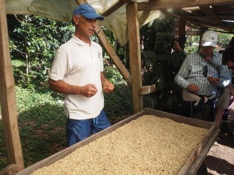 Juan explaining drying process