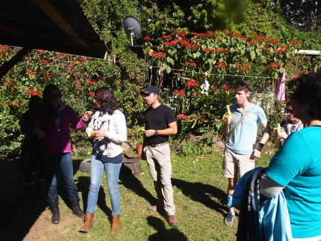 Touring Juan's coffee farm