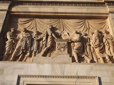 Bas relief under Arco delle Pace arch
