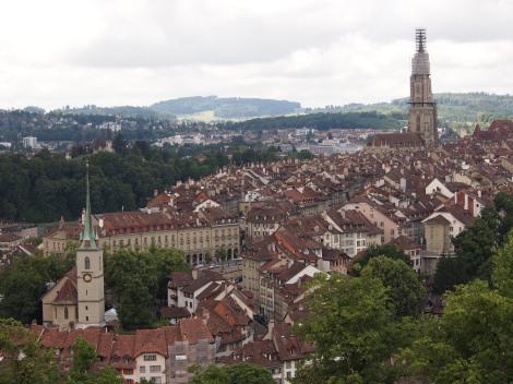 bern panorama from rosengarten