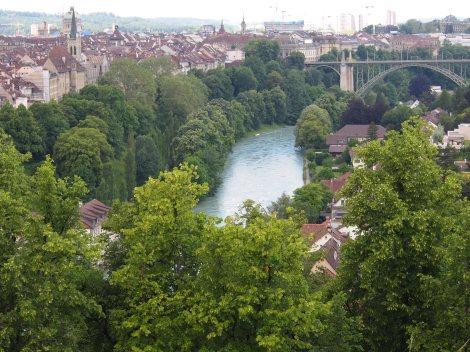 Aare river from rosengarten