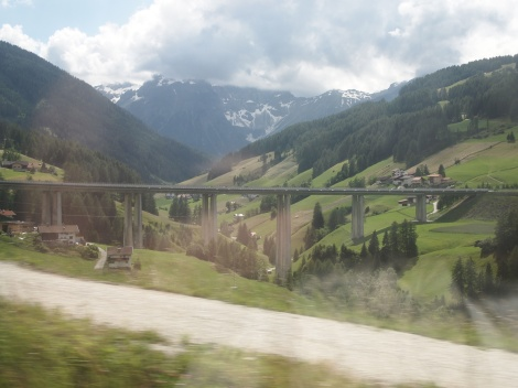 Brenner Pass carved from Alpine mountains between Italy and Austria