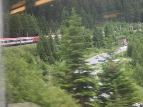 Train through Brenner Pass