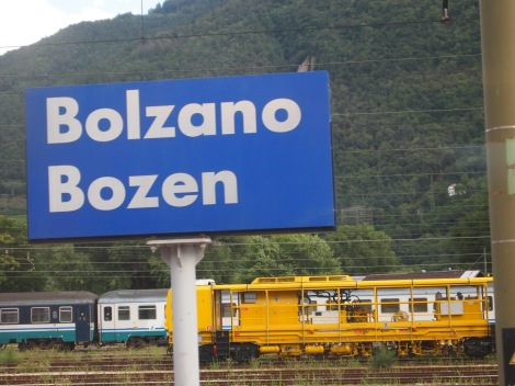 Bolzano at Austrian and Italian border