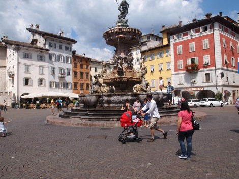 Piazza in Trento old city