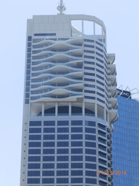 High-rise office building in Brisbane financial center