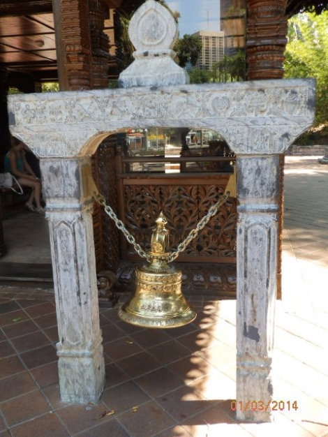 Ceremonial bell at Nepalese Pagoda