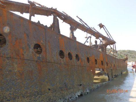 SS Maheno on Fraser Island