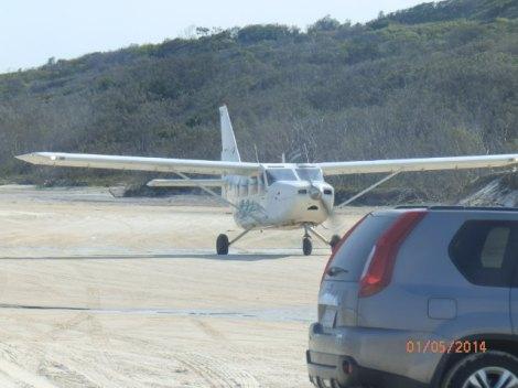7-passenger planes offering aerial tours over Fraser Island