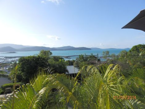 Whitsunday Island from our balcony
