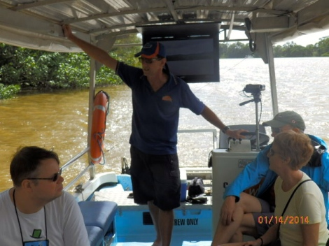 Jim, our knowledgeable guide and croc expert