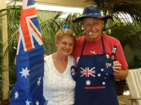Americans celebrating Australia Day.  Silly enough?