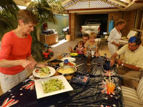 Three families on Australia Day