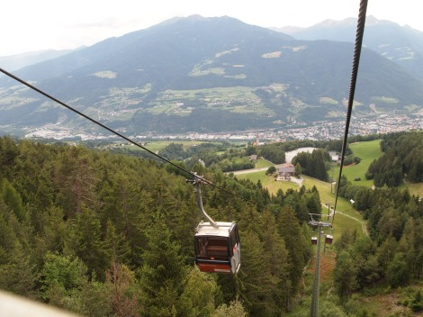 Cable car from Plose to Val Croce above Bresannone