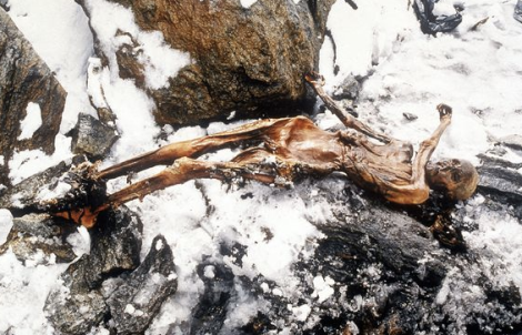 Otzi's remains recovered from ice