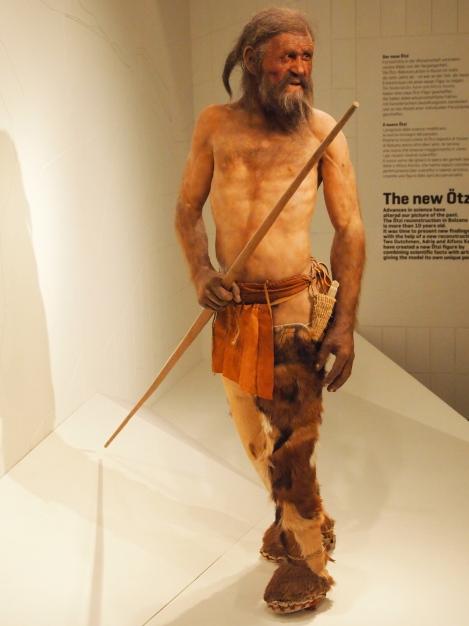 Model of Otzi the Sudtirol Iceman