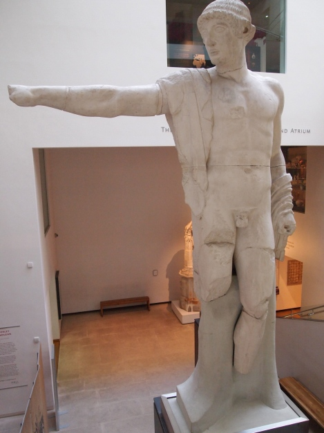 """""""Morse's pub is across the street in the Randolph Hotel,"""" said the Greek warrior statue in Ashmolean Museum."""