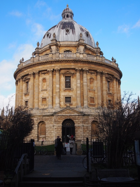 Radcliffe Camera, built in 1749, now part of Bodleian Library.