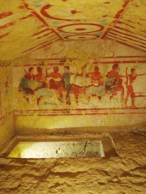 Banquet fresco and burial vault